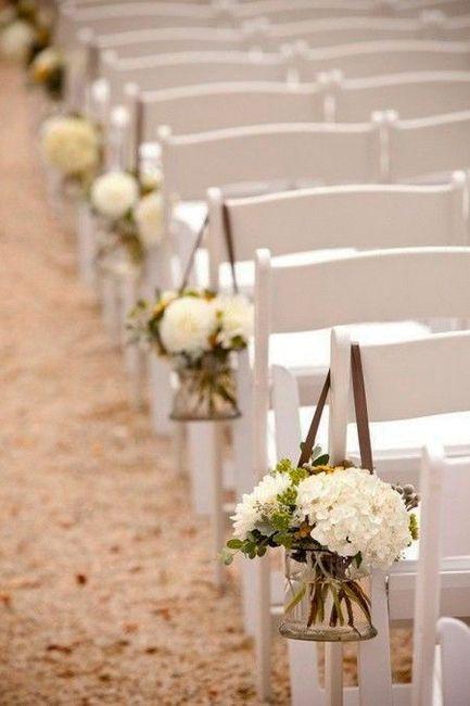 Inspirações pinterest | Decoração floral de cadeiras no corredor nupcial 3