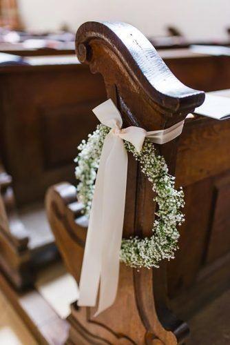 Inspirações pinterest | Decoração floral de cadeiras no corredor nupcial 5
