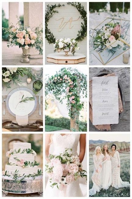 As cores do nosso Casamento: Branco e verde + apontamentos em dourado e rosa 1