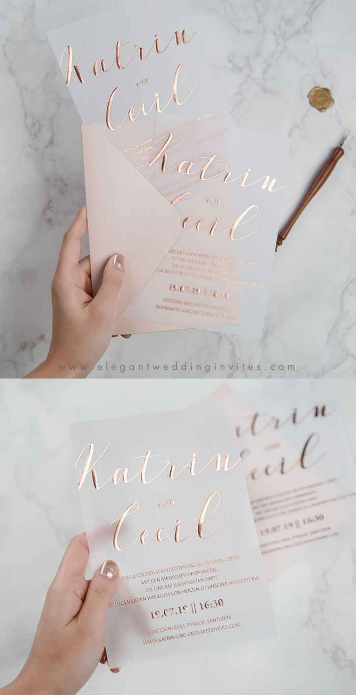 Casamento Minimalista - Rosa Dourado 💗 #outubrorosa - 1