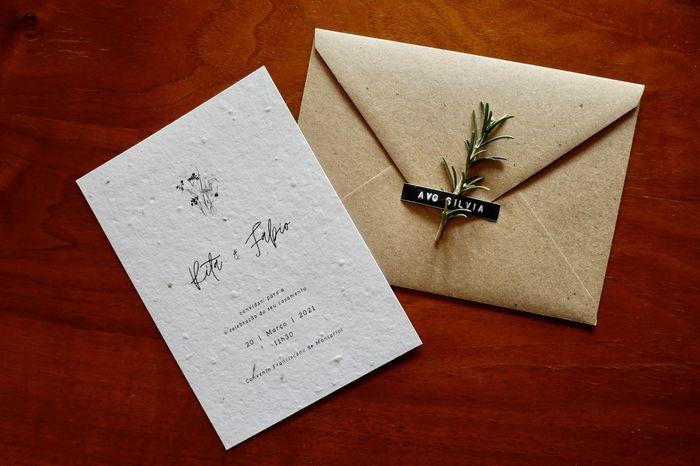 Papel Semente para convites  |  Eco-noiv@s 🌱 2