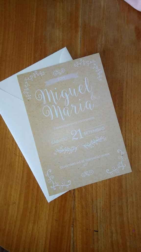 Quanto custou o vosso convite de casamento?:) - 1