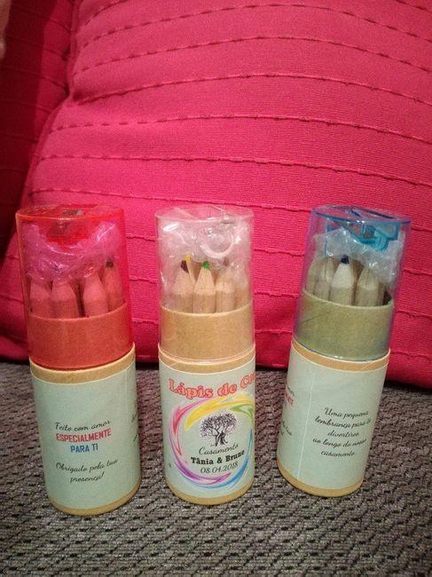 Lembranças crianças - Lápis de cor personalizados 1
