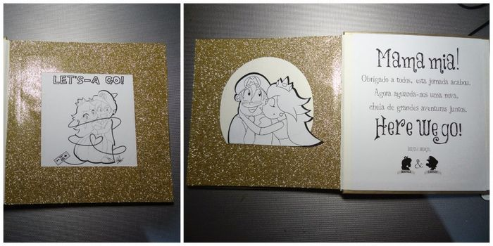 Livro de honra, primeira e última página