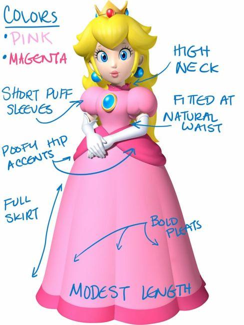 Vestido de noiva - princesa peach - inspirações - 2