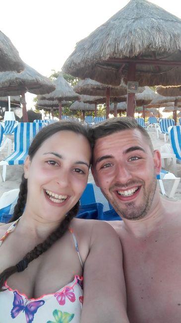 Na praia do hotel