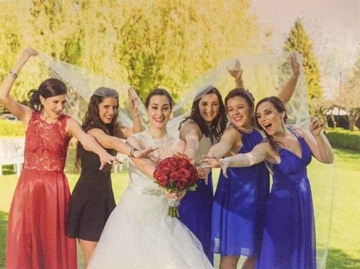 Mónica com as amigas!