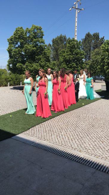 Damas de honor - entrada na Igreja 2