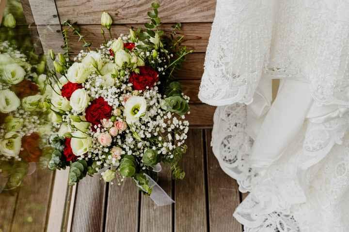 O meu bouquet só vi no dia e amei.
