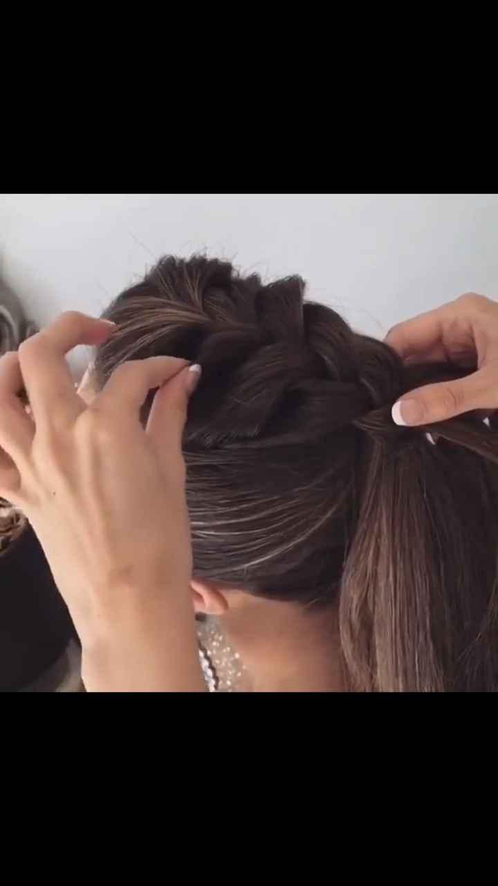 A pouco tempo do casamento...penteado escolhido...🙏🏻 - 1