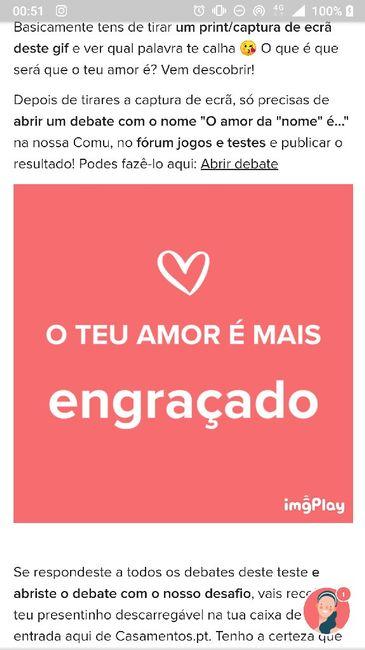 O teu amor é mais.... DESAFIO! 8