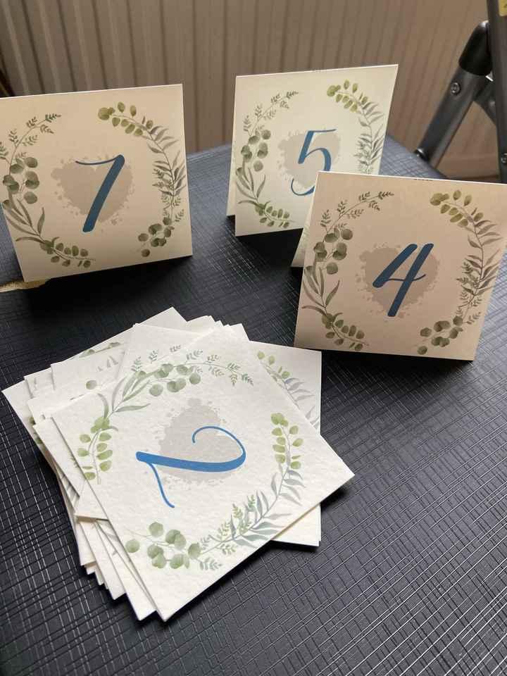 Ideias para marcadores de mesas - 1