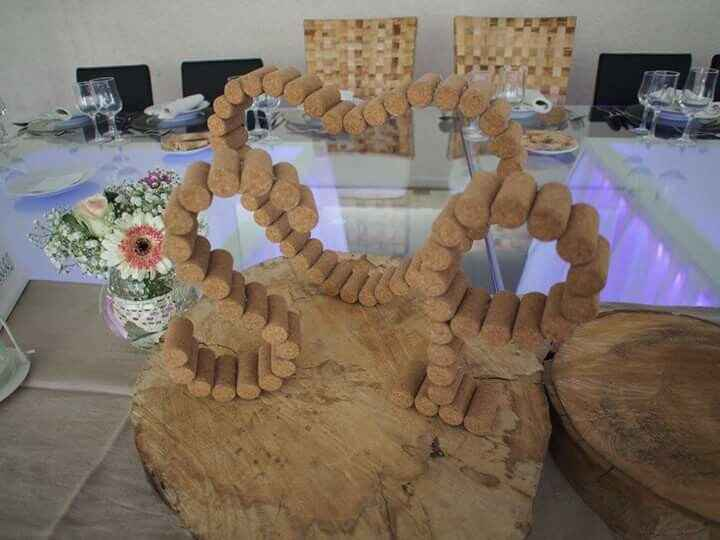 Decoração de mesa dos noivos