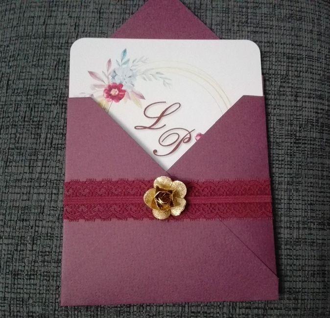Inserir o convite - frente do envelope - quando abre