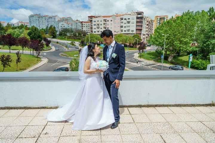Tela com Foto do Casamento - 1