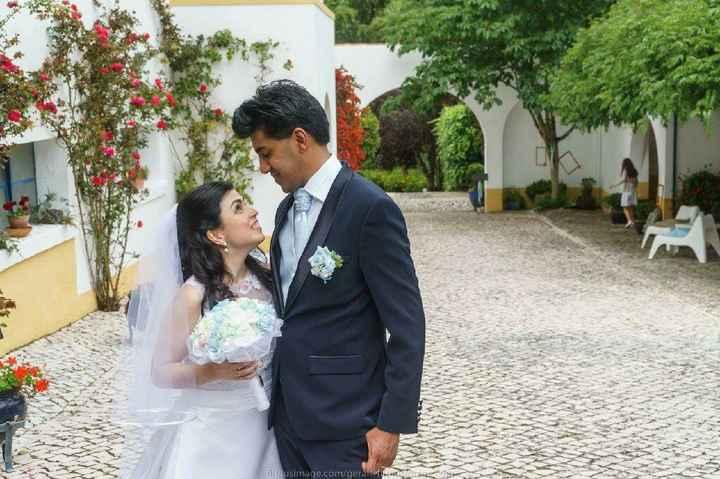 Tela com Foto do Casamento - 3