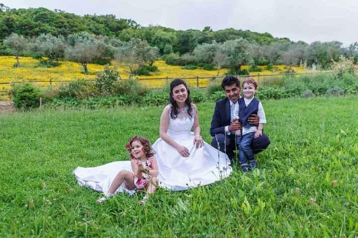 Tela com Foto do Casamento - 4