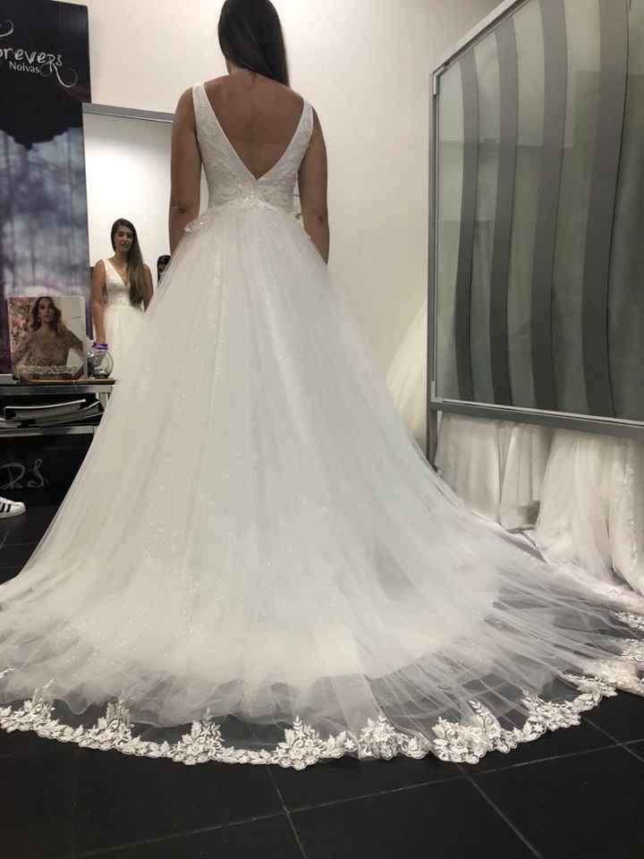 a primeira prova do meu vestido ❤️ - 3