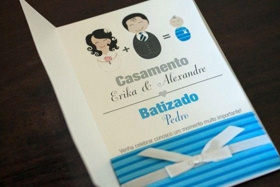 Convite Baptizado + Casamento