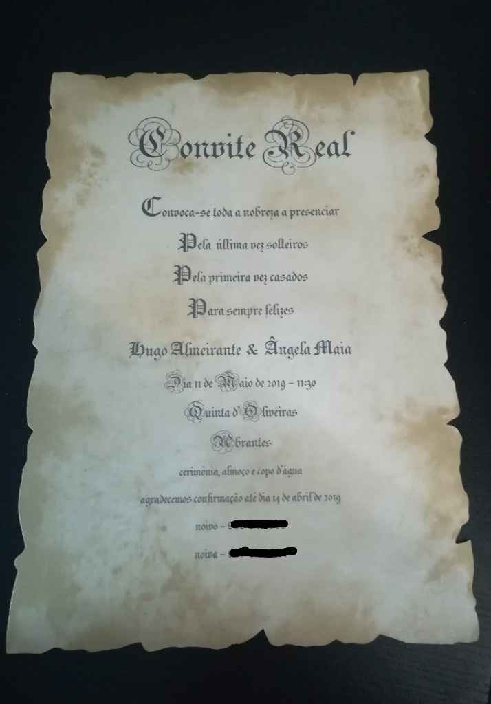 Convites de casamento prontos - 6