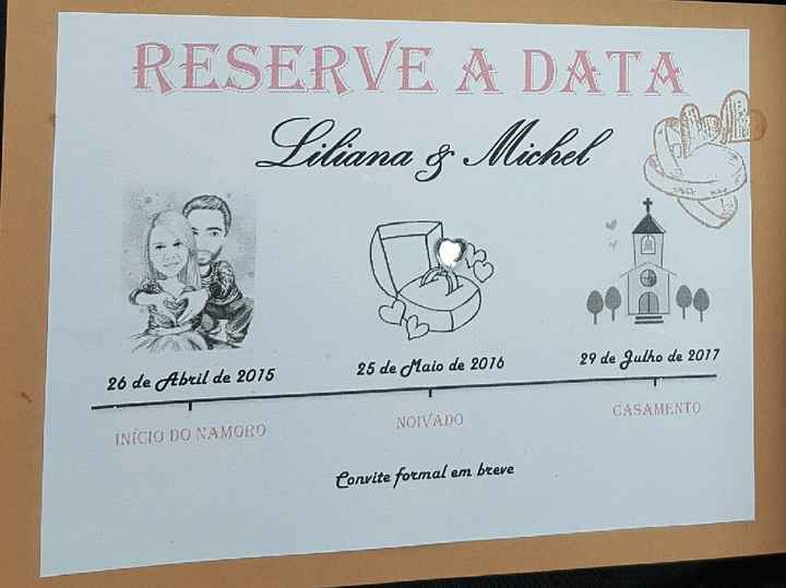 Save the date/reserve a data - 1