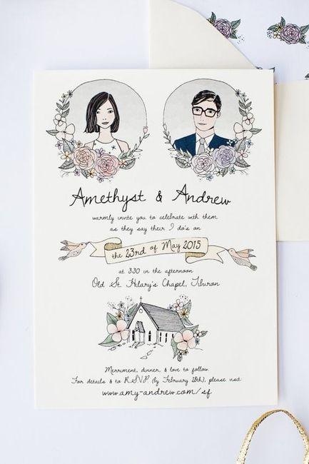 Quantos convites de casamento enviaste? 1