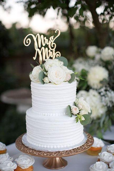 Noivas com estilo - o bolo de casamento 🎂 2
