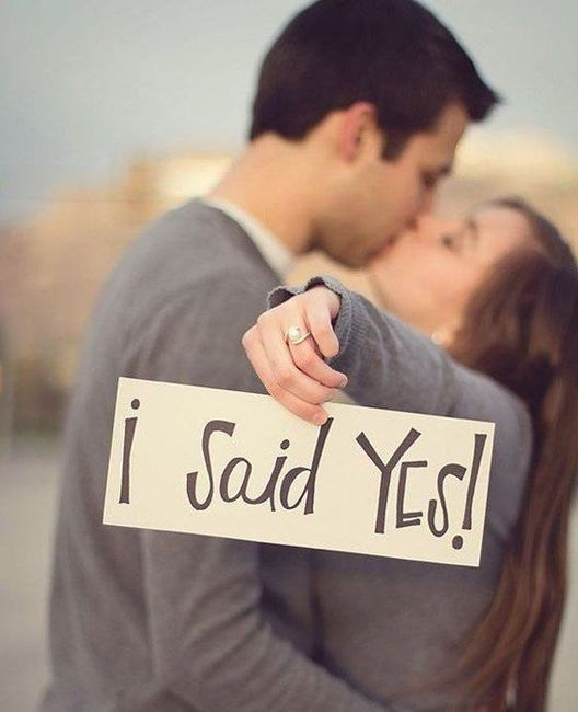 Quando anunciaram o casamento? 1