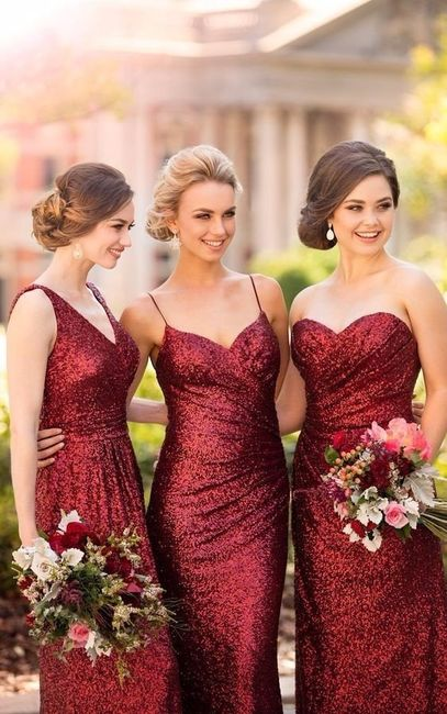 Acompanhada de que damas de honor é que casarias? 1