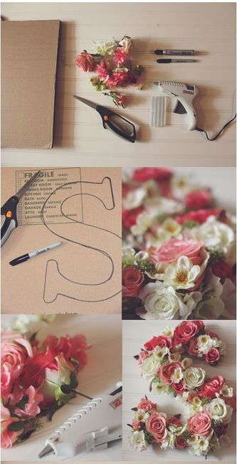 Diy letras de flores 2