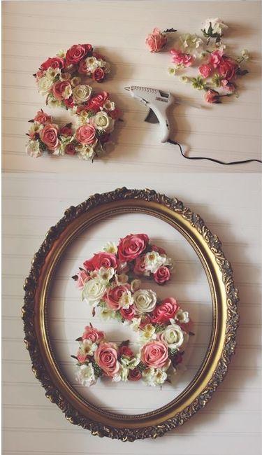 Diy letras de flores 3
