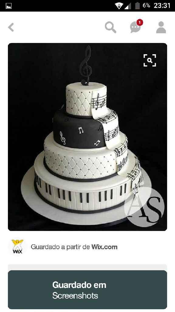 Ideias de bolos de casamento - 1