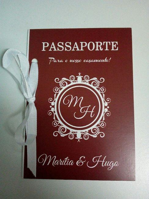 Convites casamento tema viagens - 1