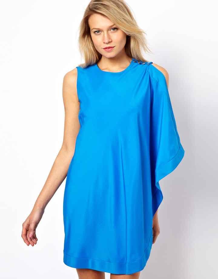 TB blue dress frente