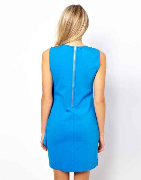 TB blue dress costas