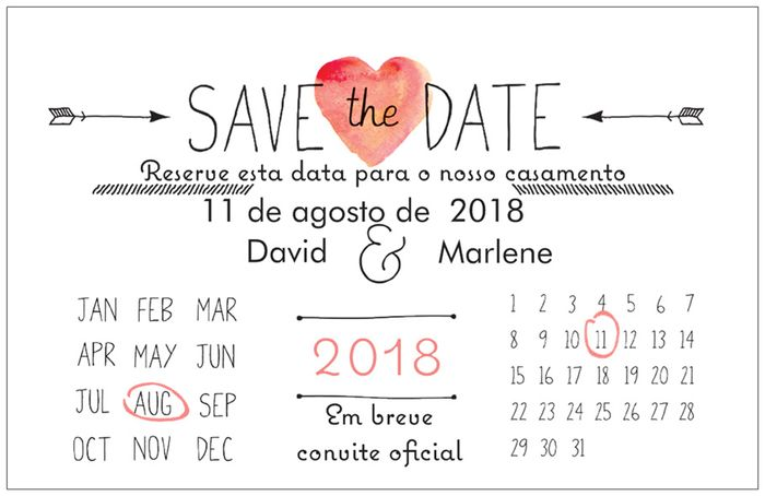 Save the date check - 1