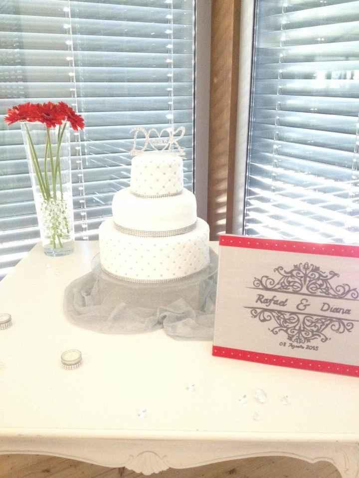Nosso bolo de casamento