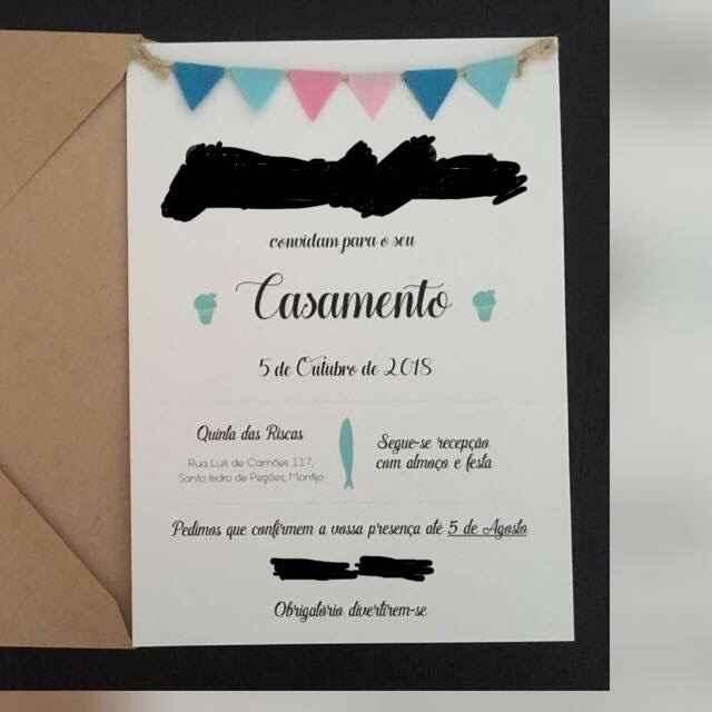 Casamento Santos Populares Simples: o Convite ✉️ - 1