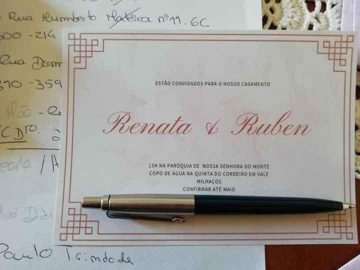 Convites e envelopes - 2