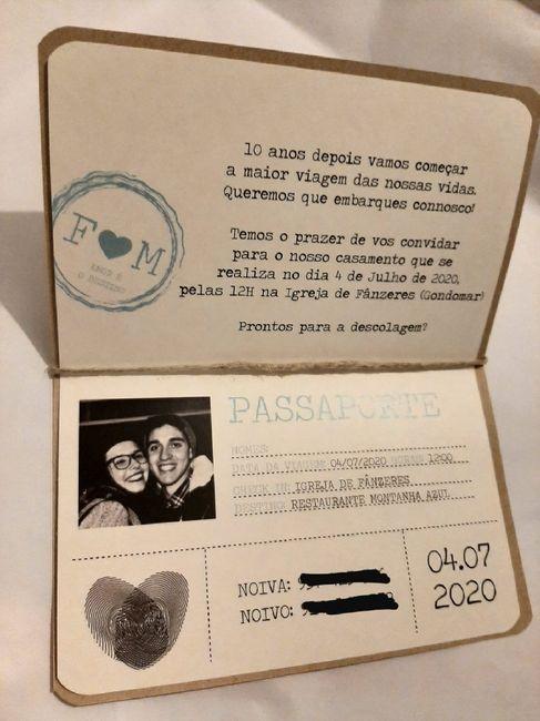 Convite - Tema: Viagens - 2