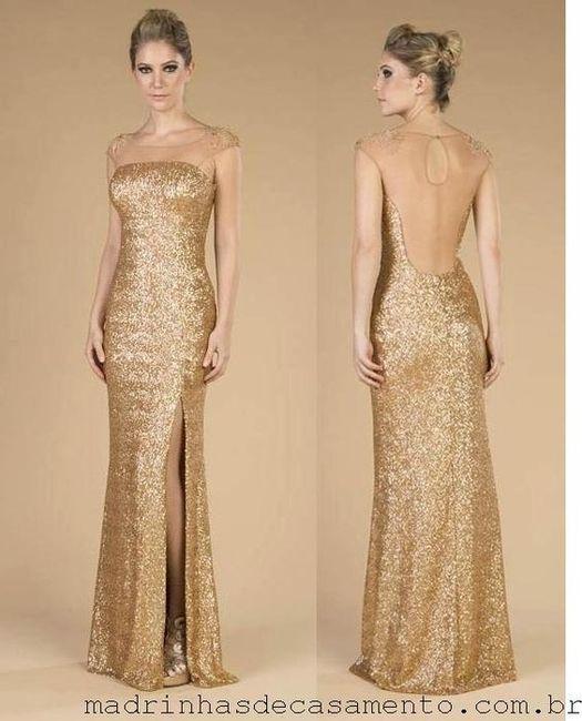Vestidos de damas de honor para o mês dourado 3