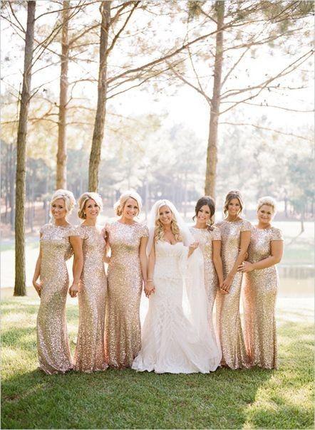 Vestidos de damas de honor para o mês dourado 5