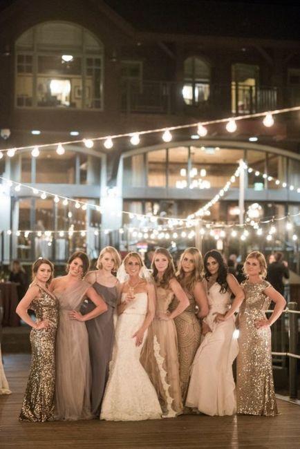 Vestidos de damas de honor para o mês dourado 6