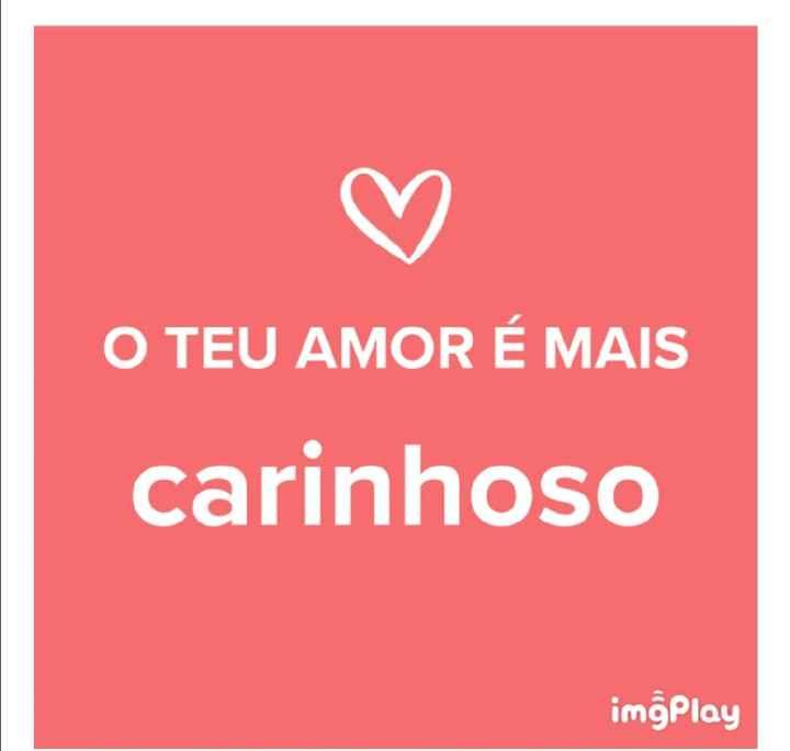 o amor da Carolina é... - 1
