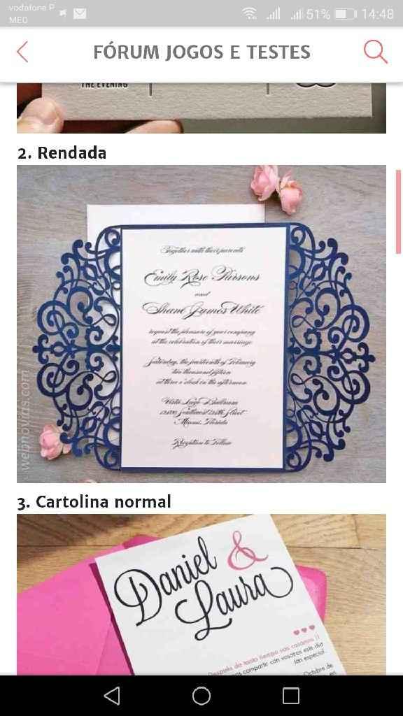 Os meus convites de casamento: Nádia & Hugo - 2