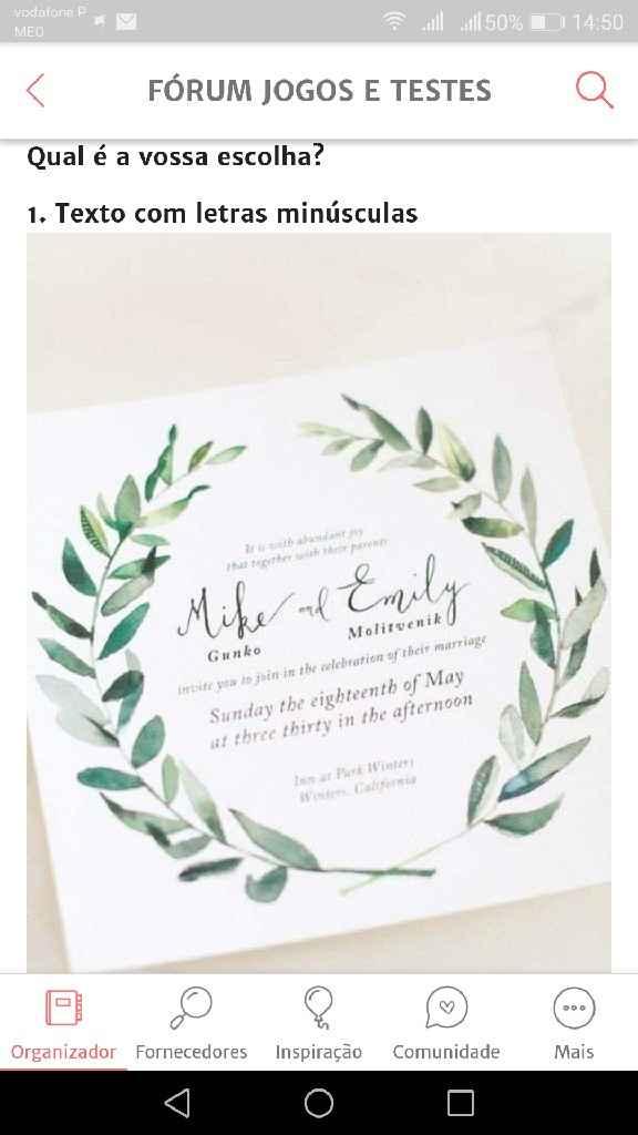 Os meus convites de casamento: Nádia & Hugo - 4