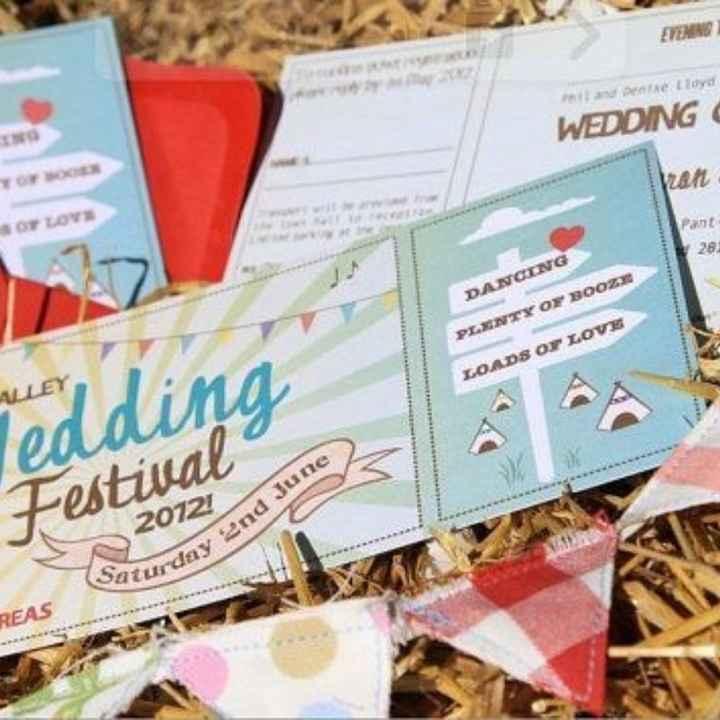 Convite de casamentos-festivais - 3