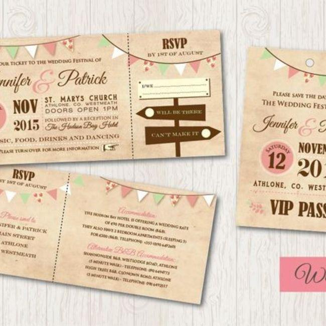 Convite de casamentos-festivais - 4
