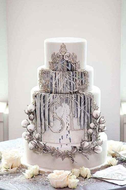 Casamentos de Inverno -  Bolos dos noivos 🤩 - 4