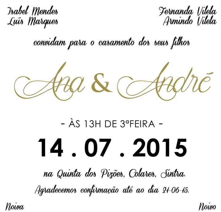 Os nossos convites - coming soon  - 1